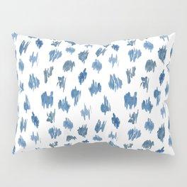 Brushstrokes of blue paint Pillow Sham
