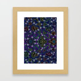 Shipibo Pattern Framed Art Print