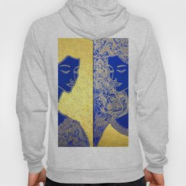 THE RISING MOON. DIPTYCH Hoody
