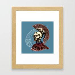 """Julius Caesar  """"I came; I saw; I conquered"""" Framed Art Print"""
