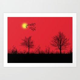 Red panorama Art Print