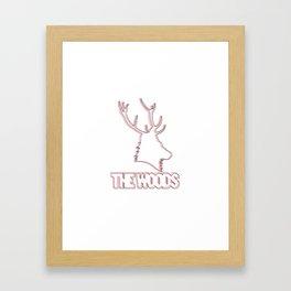 Wooded lines Framed Art Print
