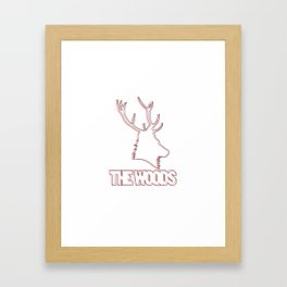 Wooded lines Framed Art Print