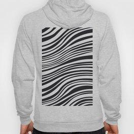 Modern Black & White Stipes - Zebra Animal Hoody