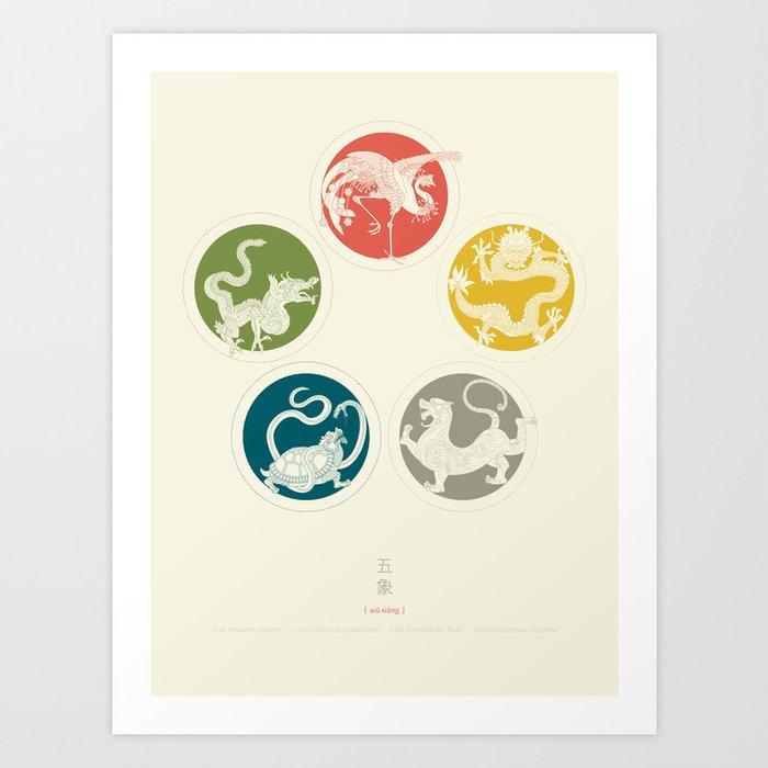 Five Heavenly Beasts Art Print