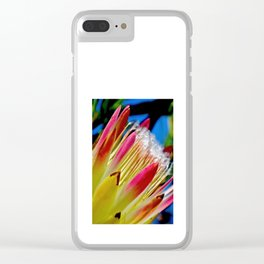 Red Protea Clear iPhone Case