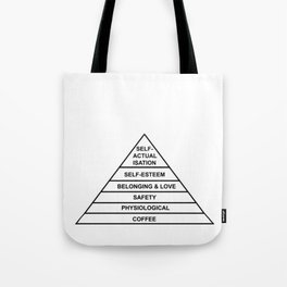 Hierarchy of Needs... Coffee! Tote Bag