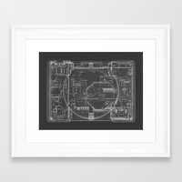 playstation Framed Art Prints featuring PlayStation One  by Georg Bodenstein