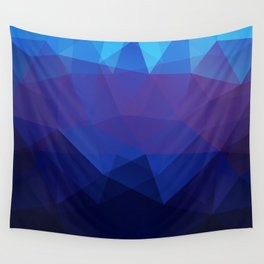 Blue abstract background Wall Tapestry