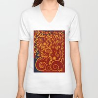 gustav klimt V-neck T-shirts featuring A Garden for Gustav by DebS Digs Photo Art