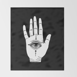 Hamsa Horus Throw Blanket