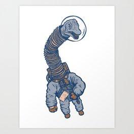 Astro Brachiosaurus Art Print