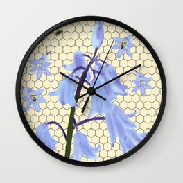 Bee Paradise Wall Clock
