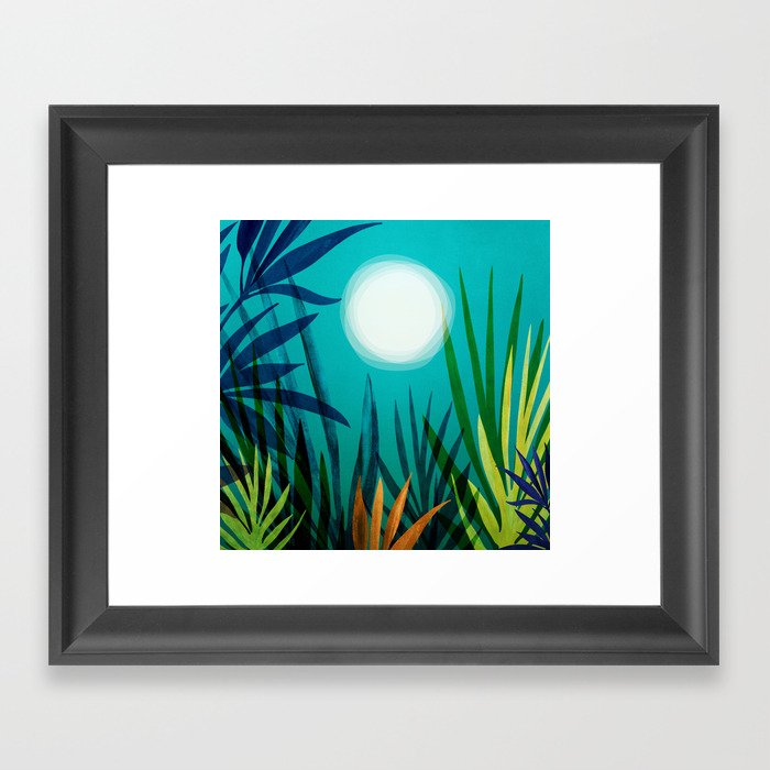 Midnight In The Jungle / Tropical Night Series #4 Framed Art Print