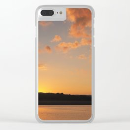 Sun Going Down Clear iPhone Case