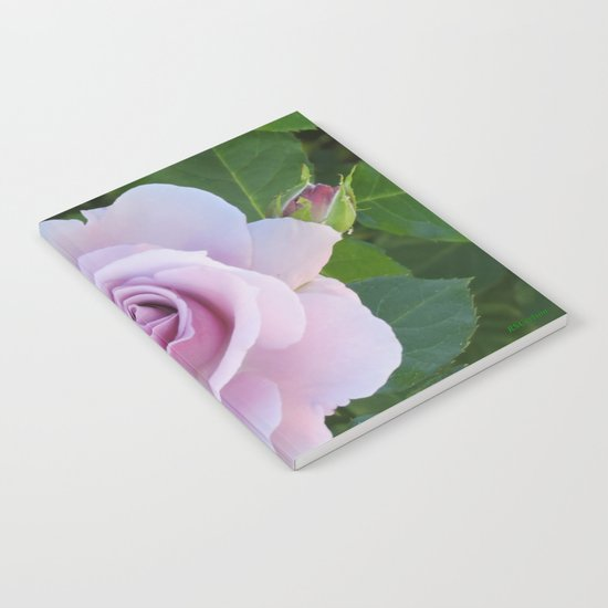 Bloom and Buds Paling to Purple Notebook