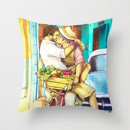 Cuba Kiss Throw Pillow