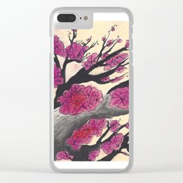 Pink Cherry Blossoms (1 of 3) Clear iPhone Case