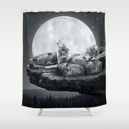 Echoes of a Lullaby Shower Curtain