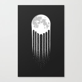 Moon-City Canvas Print