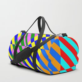 Broken Abstract Art (80s Style Pattern) Duffle Bag