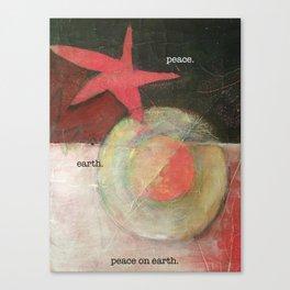 peace. earth. peace on earth. Canvas Print
