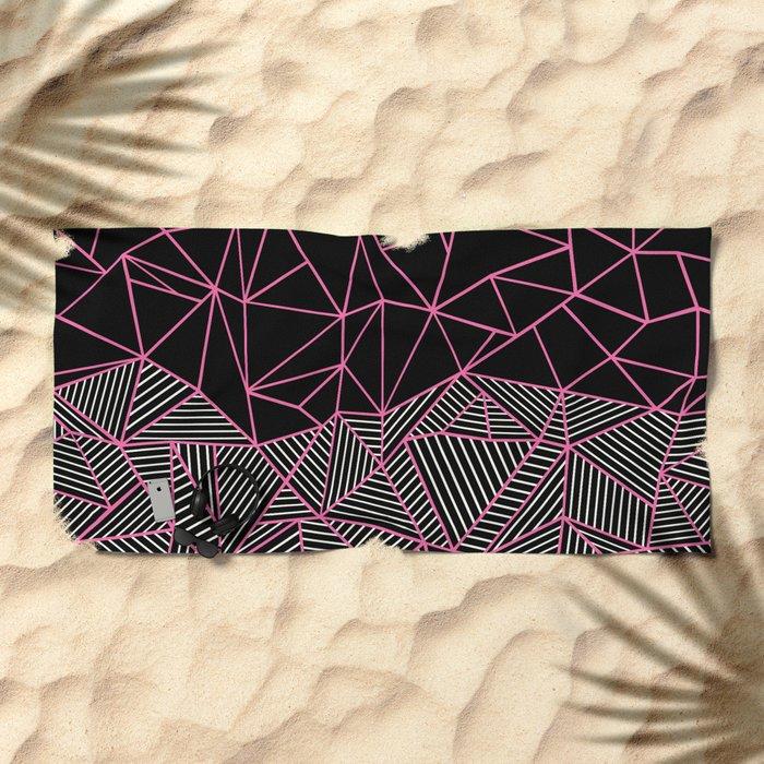Ab Half an Half Black and Pink Beach Towel