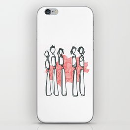 People with Red Lines iPhone Skin