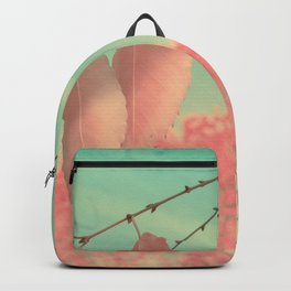 Flamingo Pink Autumn Leaves Backpack