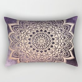 GOLD NIGHTS MANDALA IN PURPLE Rectangular Pillow