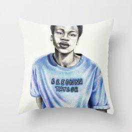 Breonna Taylor Throw Pillow