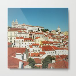 Lisbon view, Portugal Analog 6x6 Kodal Ektar 100 (RR 166) Metal Print