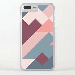 Geometric Mountains 02 Clear iPhone Case
