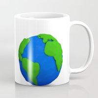 globe Mugs featuring Globe by Tassos Kotsiras