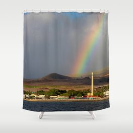 Rainbow over Lahaina Shower Curtain
