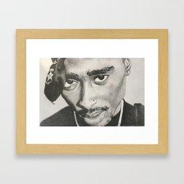 """never had a friend like me"" Makaveli Framed Art Print"