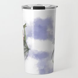 Dragon Flight at Night Travel Mug
