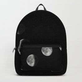 Phases of the Moon. Moon lunar cycle. Backpack