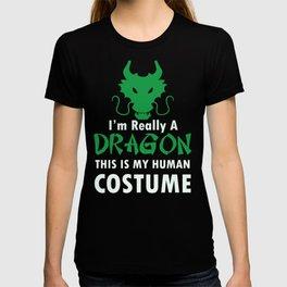 Funny Dragon Halloween Costume Scary design T-shirt