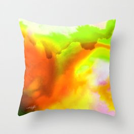 Abstract Bliss 1H by Kathy Morton Stanion Throw Pillow