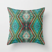aztec Throw Pillows featuring AZTEC by ED design for fun