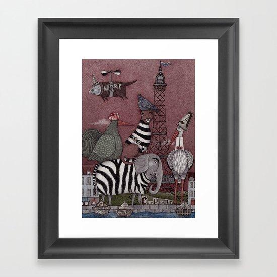 Animal Convention Framed Art Print