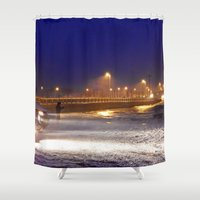 watch Shower Curtains featuring Storm Watch  by DanByTheSea