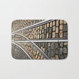 Rails and Cobbles Bath Mat