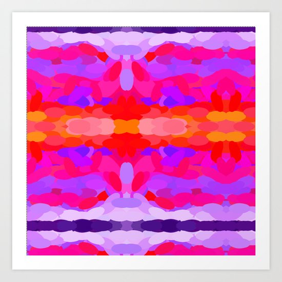 Purple, pink and orange tie dye Art Print
