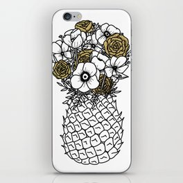 Pineapple Bouquet Gold iPhone Skin