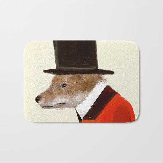 the dapper fox Bath Mat