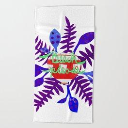 Beach Please-Purple Beach Towel