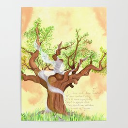 The concentrated Lady of the Oak Poster