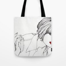 Girl With The Mont Blanc Tote Bag